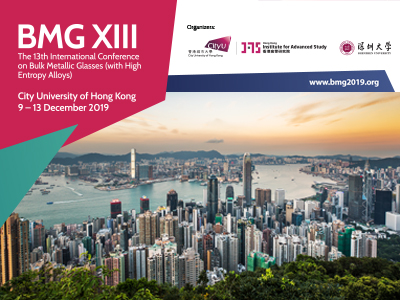 BMG XIII - The 13th International Conference on Bulk Metallic Glasses (with High Entropy Alloys)