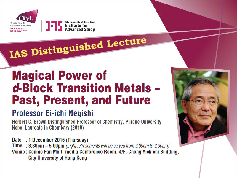 Magical Power of d-Block Transition Metals - Past, Present, and Future