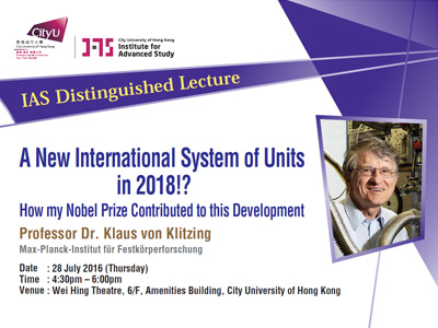 A New International System of Units in 2018!? How my Nobel Prize Contributed to this Development