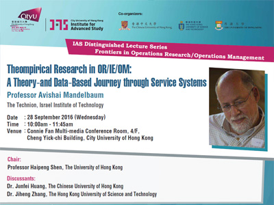 Theompirical Research in OR/IE/OM: A Theory-and Data-Based Journey through Service Systems
