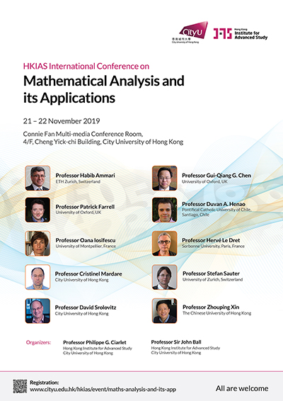 Hong Kong Institute for Advanced Study International Conference on Mathematical Analysis and its Applications