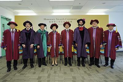 城大頒授榮譽博士學位予四位傑出人士