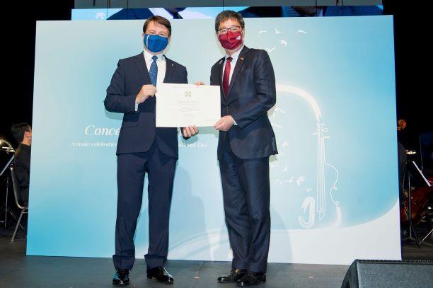 Prestigious Italian Honour of 'Knight' for HKIAS Senior Fellow, President Way Kuo
