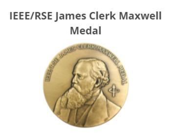 香港高等研究院資深院士胡玲教授榮獲2021年度 IEEE/RSE詹姆斯·克拉克·馬克士威獎章
